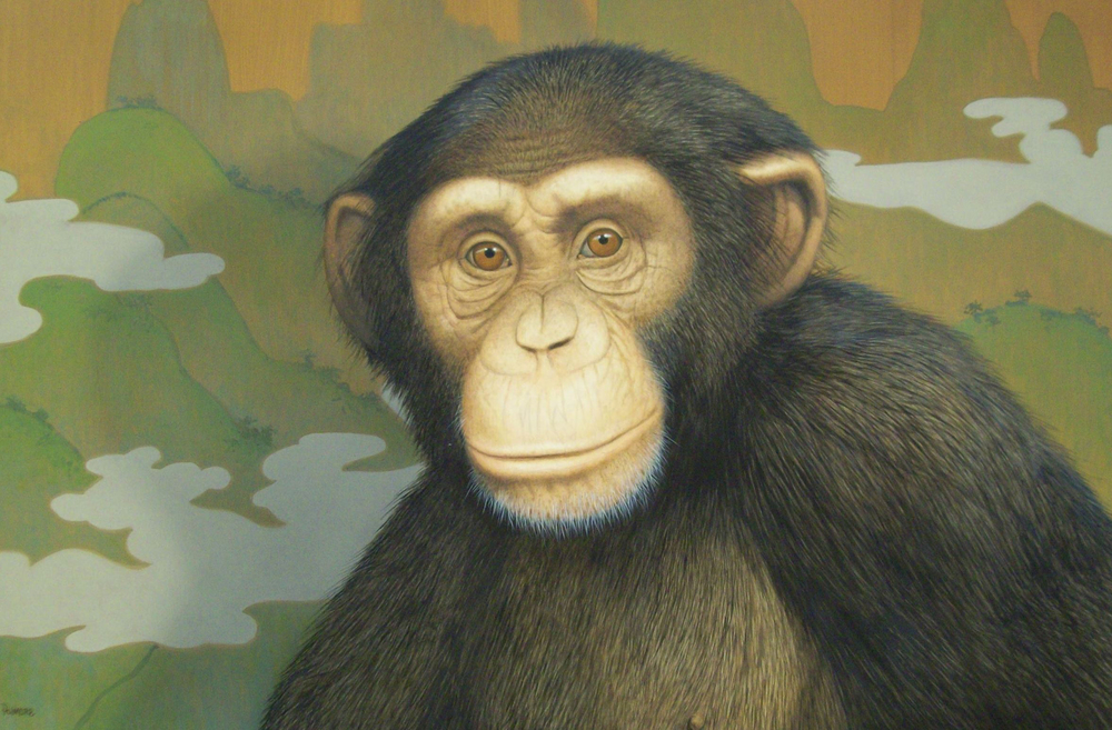 Tommy Palmore,  Japanese Monkey , entered collection 2014 Purchased from PAFA Benefit Auction