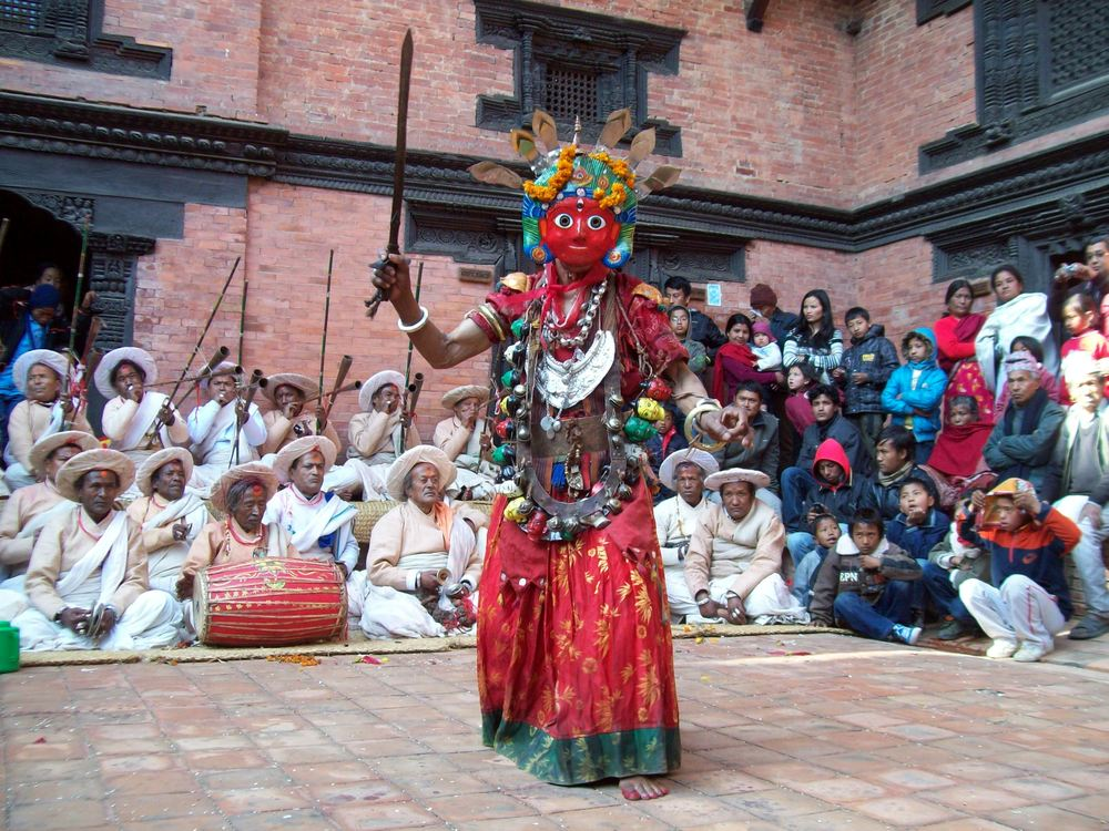 Festival in Patan Palace Courtyard