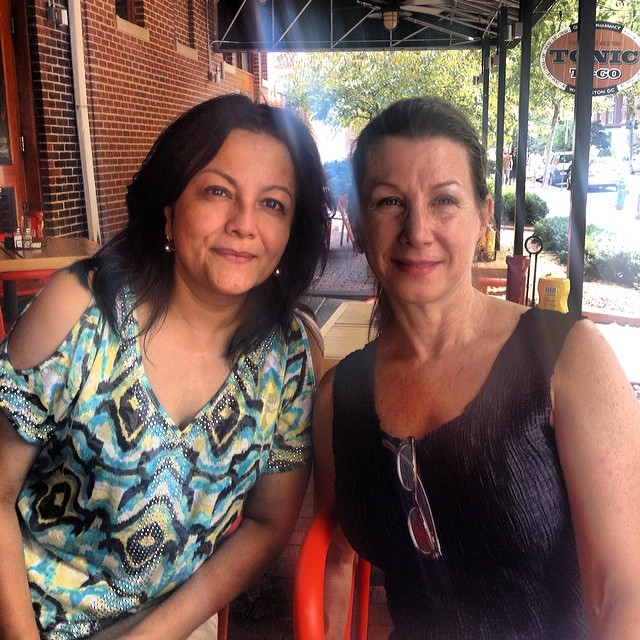 KCAC Dir. Sangeeta Thapa and FPAFA Pres. Maureen Drdak, Washington D.C. 2014