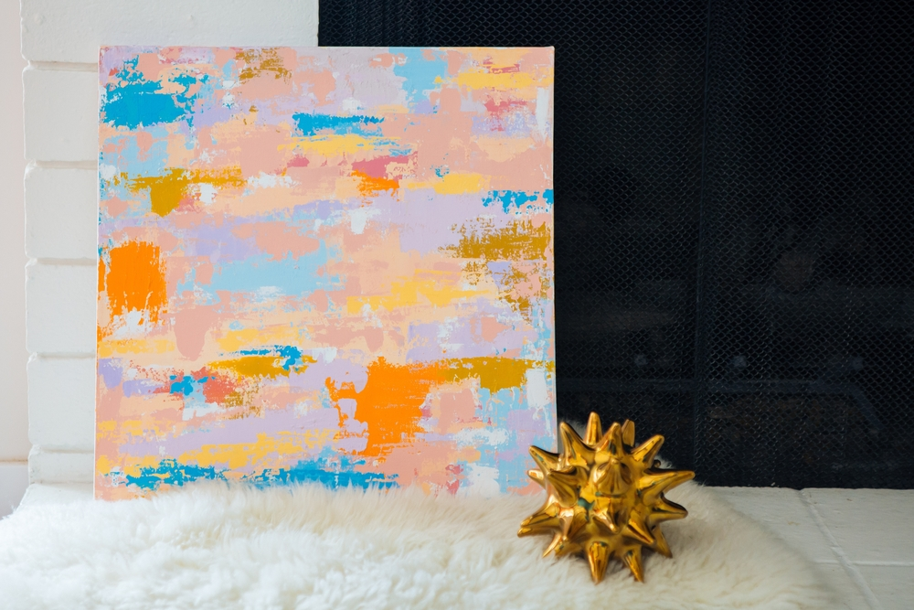 Abstract Artist Samantha Louise Designs | Photo By: Stacy Keck
