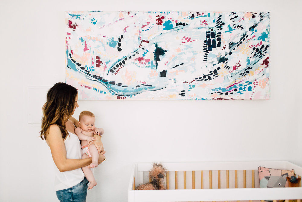 Abstract Artist Samantha Louise Designs | Photo By: Plum & Oak Photo
