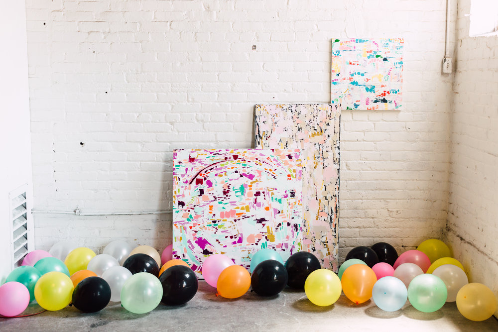 Abstract Artist Samantha Louise Designs | Photo By: Plum & Oak Photo