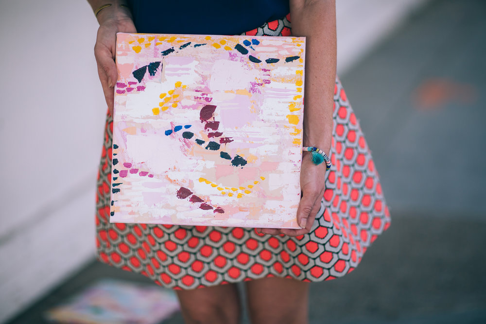 Samantha Louise Designs Abstract Art | Photo By: Stacy Keck | East Village Downtown San Diego