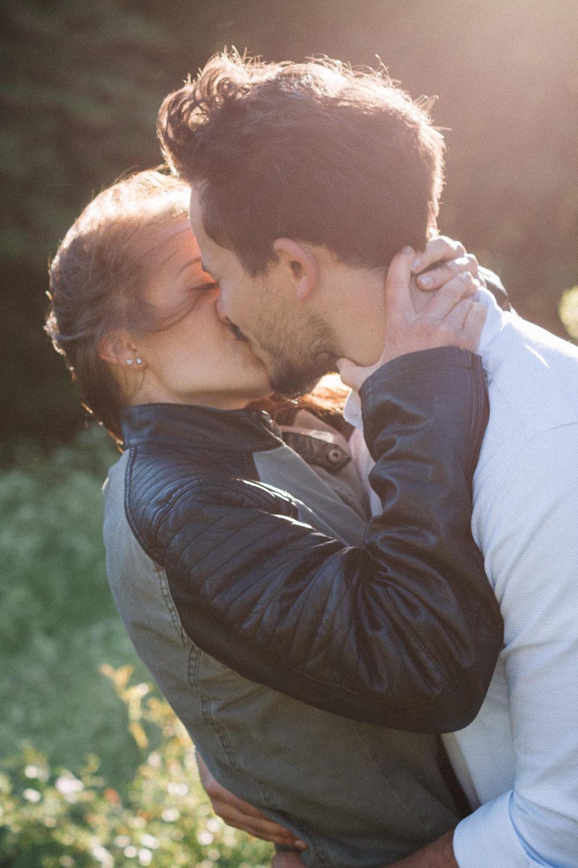 Kuss eines Paares
