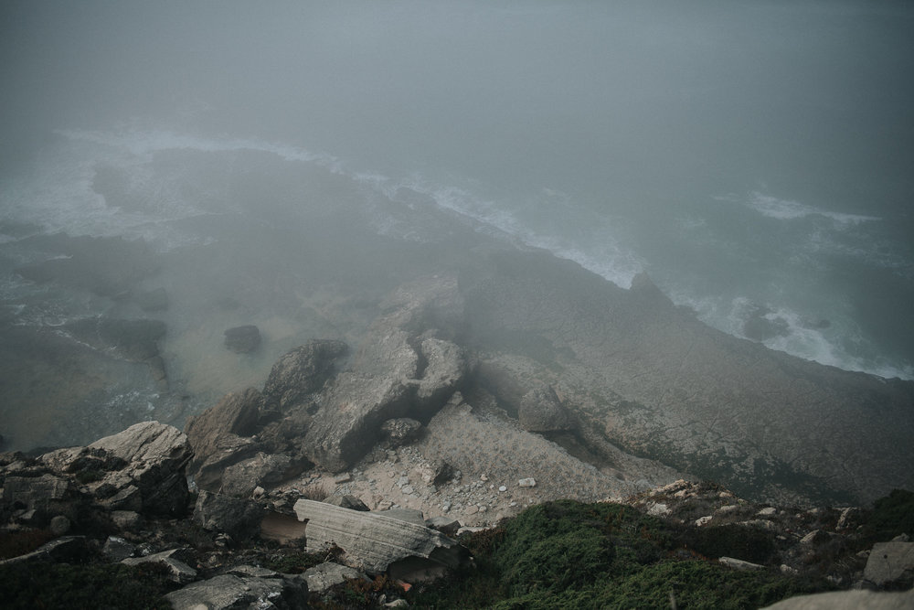 View from above on Praia da Aguda