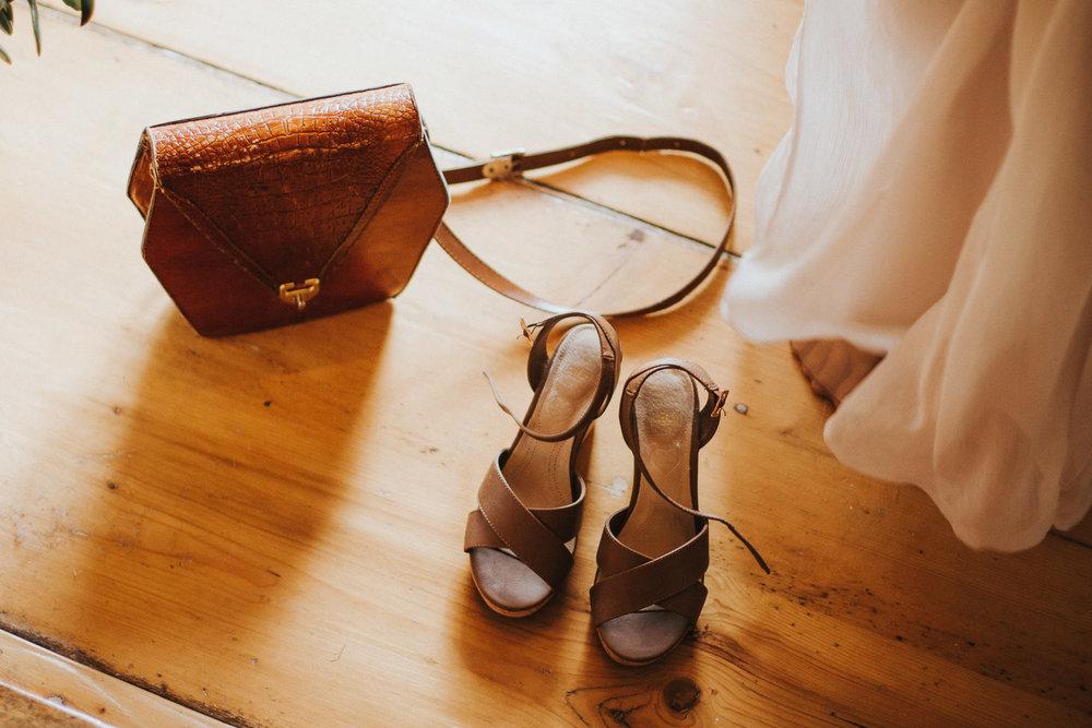 Brautschuhe mit Handtasche