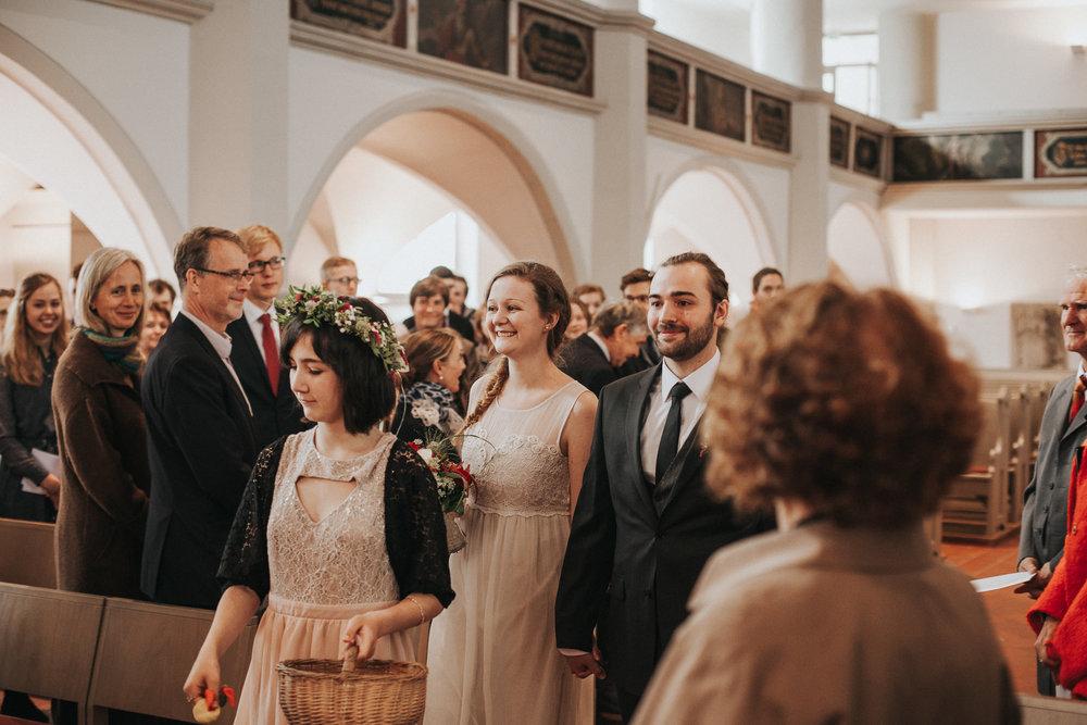 Einzug von Brautpaar im Lutherhaus Eisenach