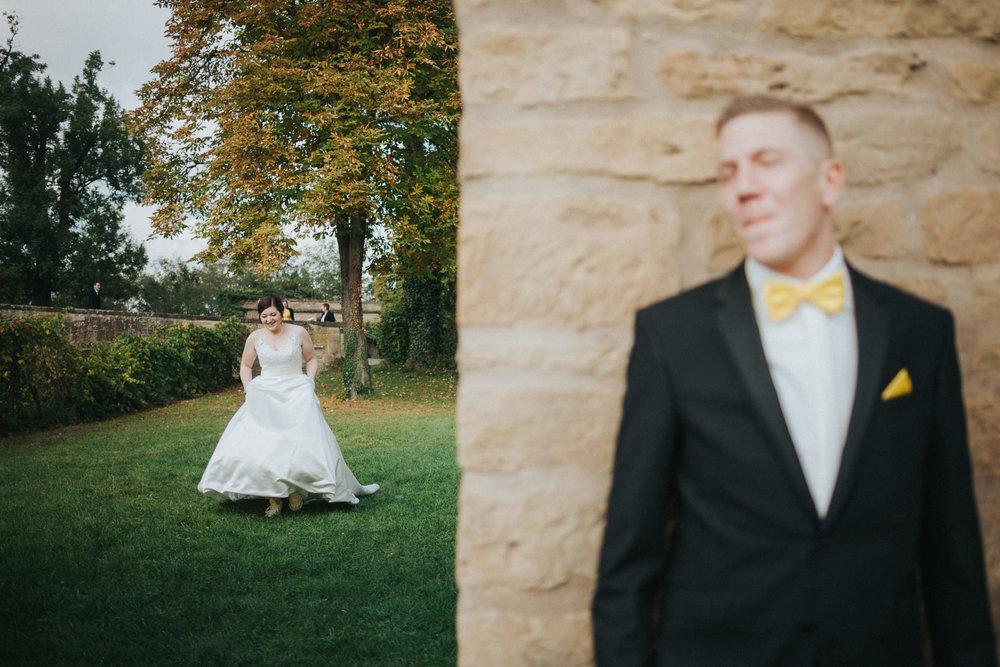 Firstlook von Braut und Bräutigam