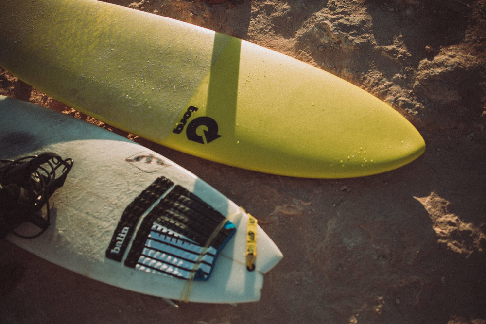 Two surf boards