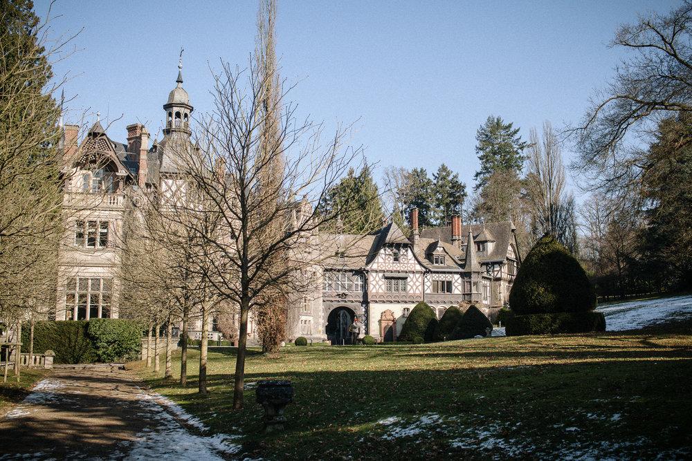 Seitenansicht des Schloss Rauischholzhausen