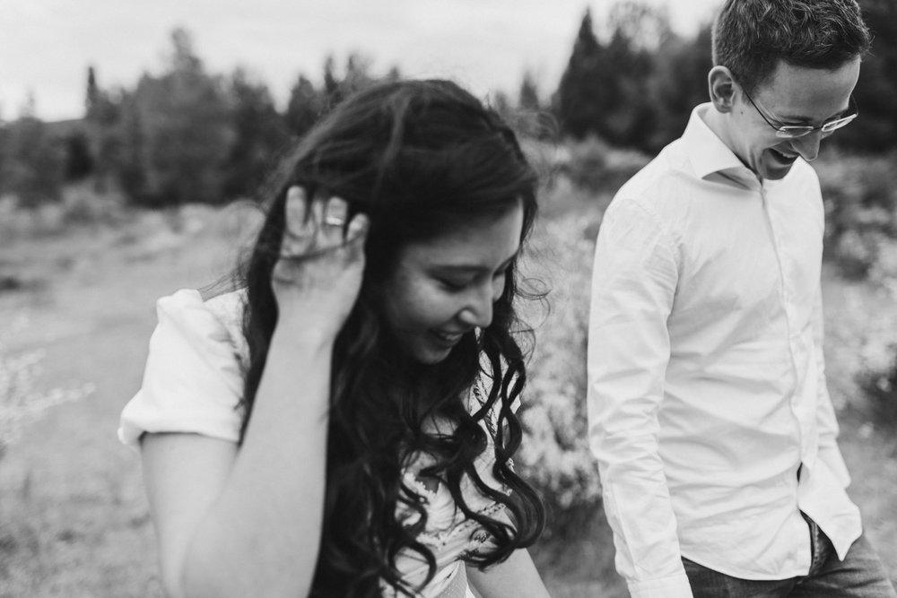 Paar in Schwarz Weiß