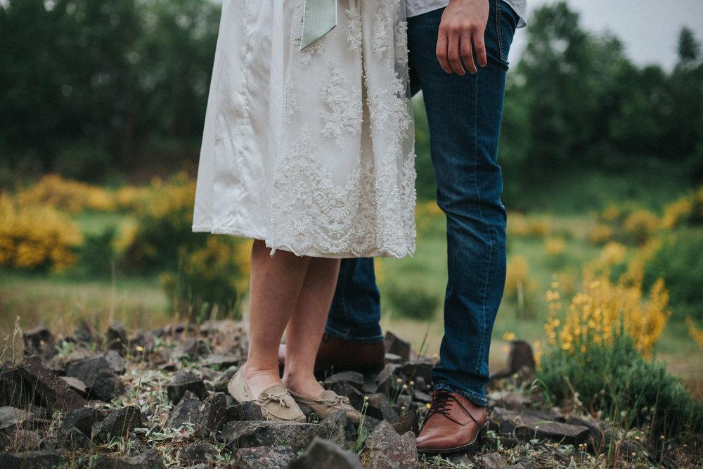 Beine von Mann und Frau