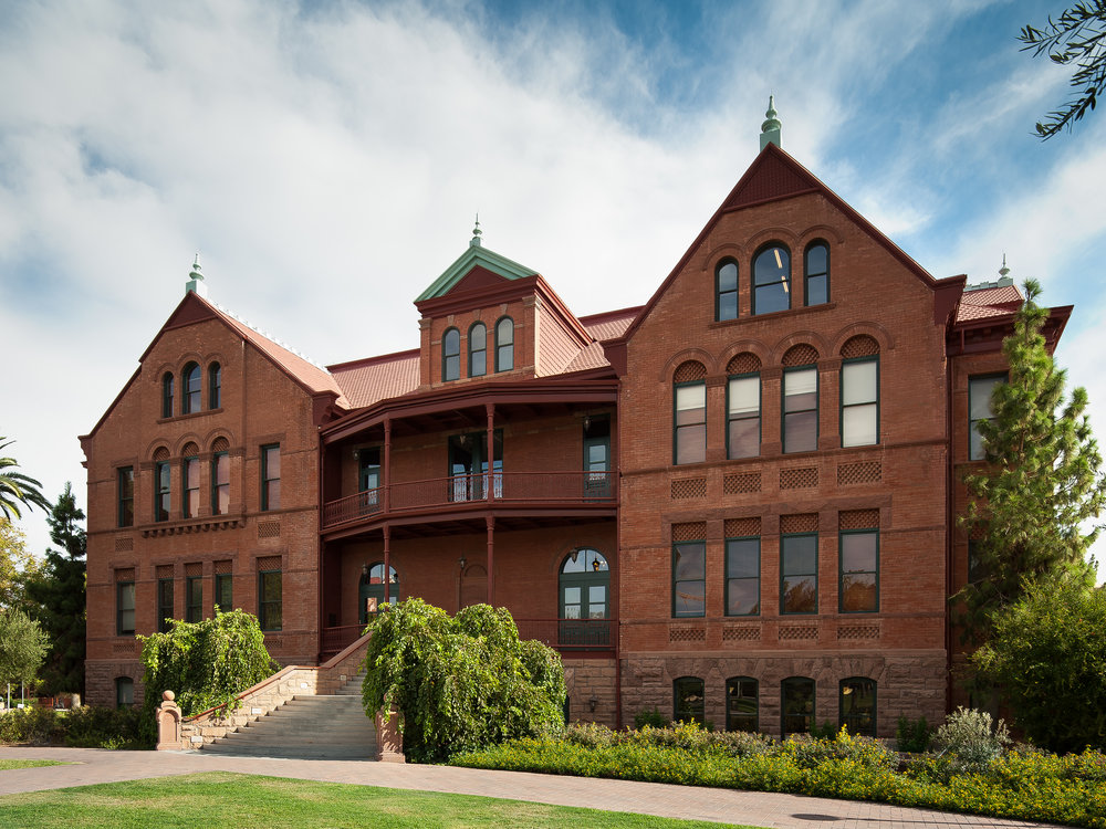 old main, ASU, phoenix architectural photography