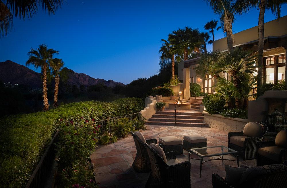 twilight exterior paradise valley arizona