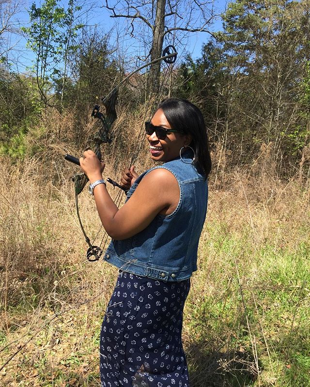 So I was trying to be adventurous when Lord knows the outdoors ain't for me. But I was cute tho #tbt