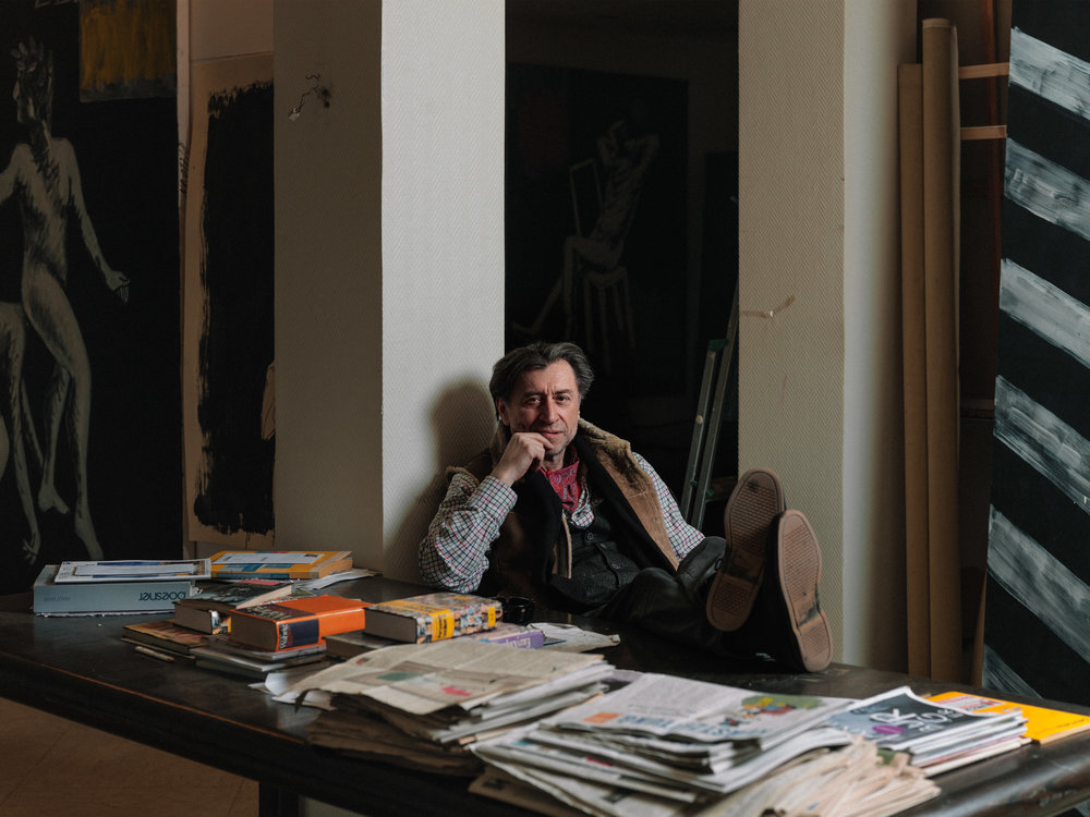 Künster: Radomir in seinem Atelier in Bielefeld