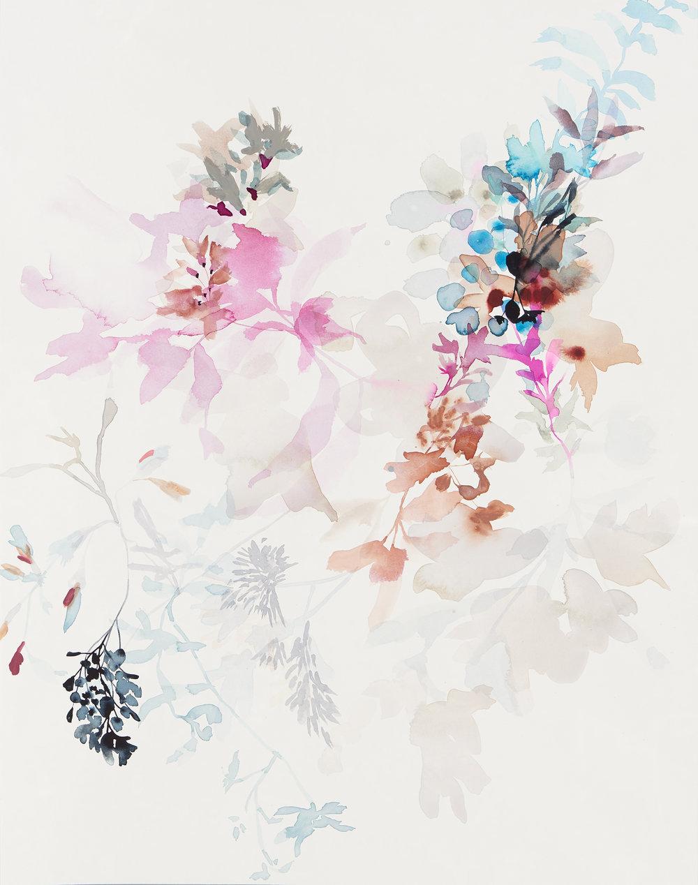 Wildflower Study - stilllife - 1, 2018, mixed media on paper, 28 x 22.jpg