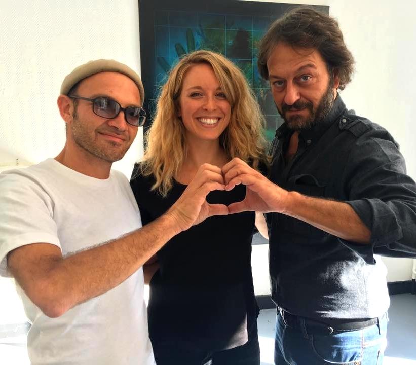 Lionel Bensemoun, instigateur du projet, Cyrielle Hariel et Pierre-Samuel Guedj, contributeurs