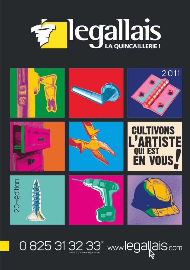 Catalogue Legallais 2011 façon Andy Wharol