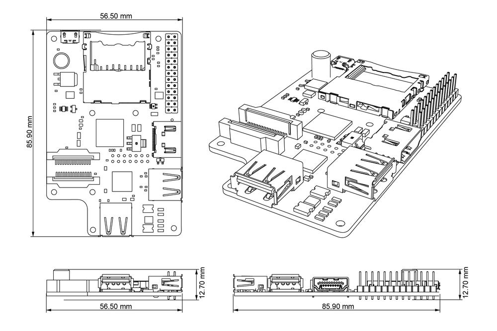 alveo PCB orthographics