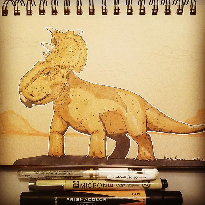 16 Pachyrhinosaurus
