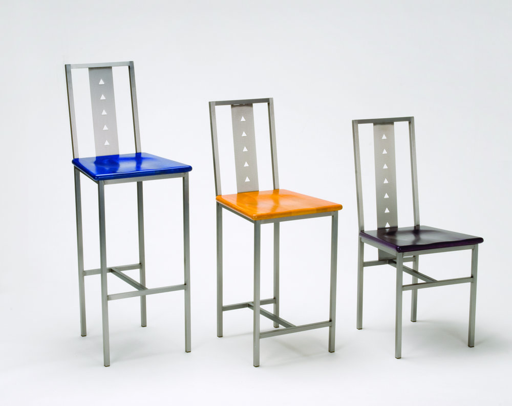 Charmant Triangle Hole Series Chair And Stools