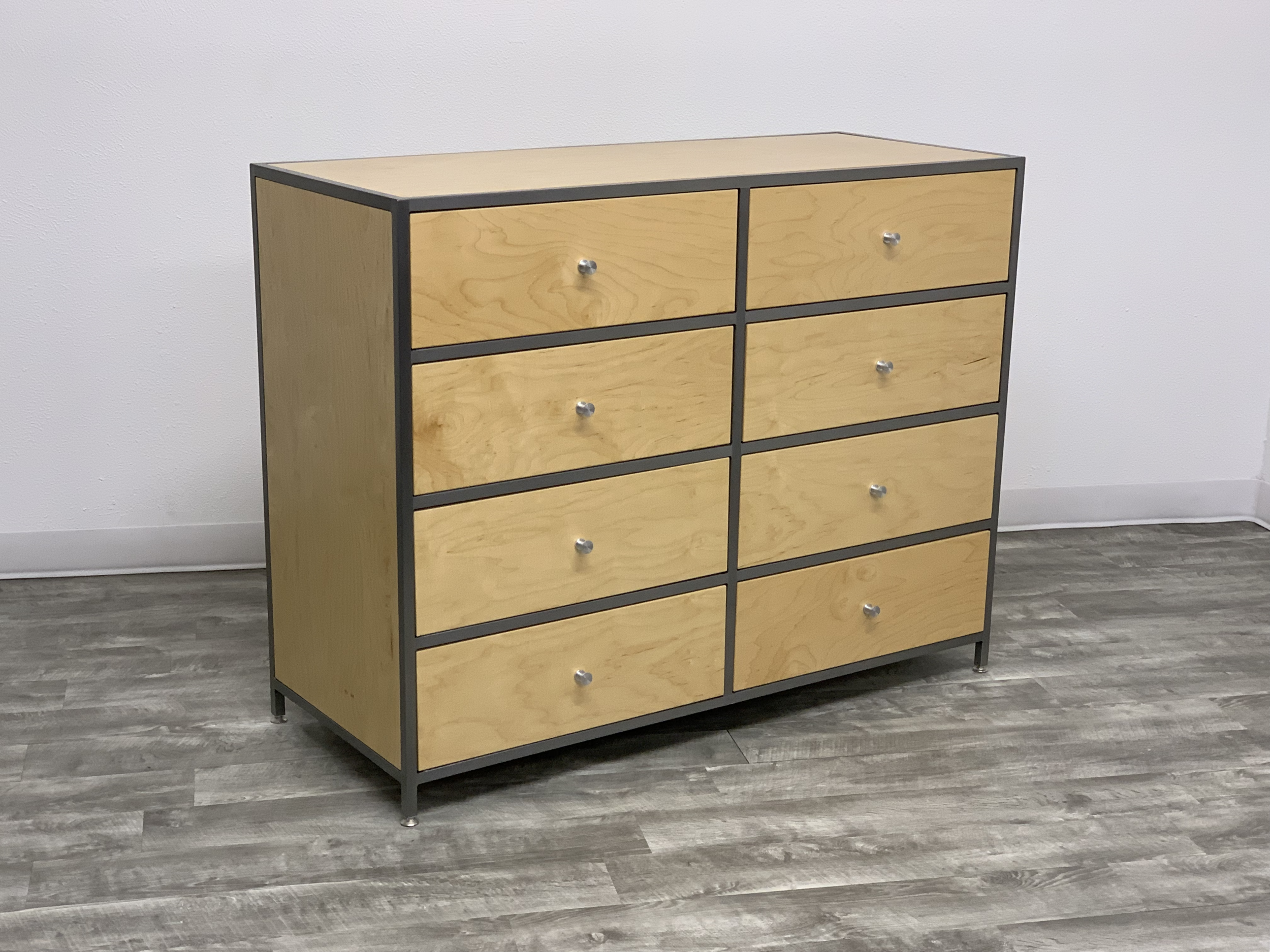 Ling 8 Drawer Dresser In Natural Maple Modern Handcrafted