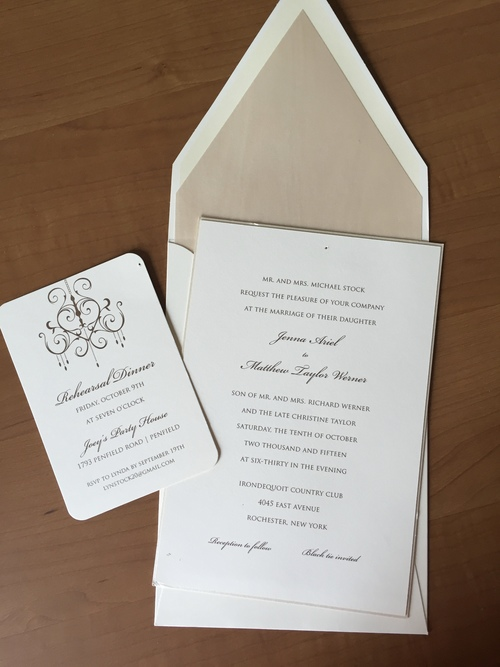 invitations etc is a home based enterprise bringing the latest styles and trends in invitations and personalized papers to rochester new york