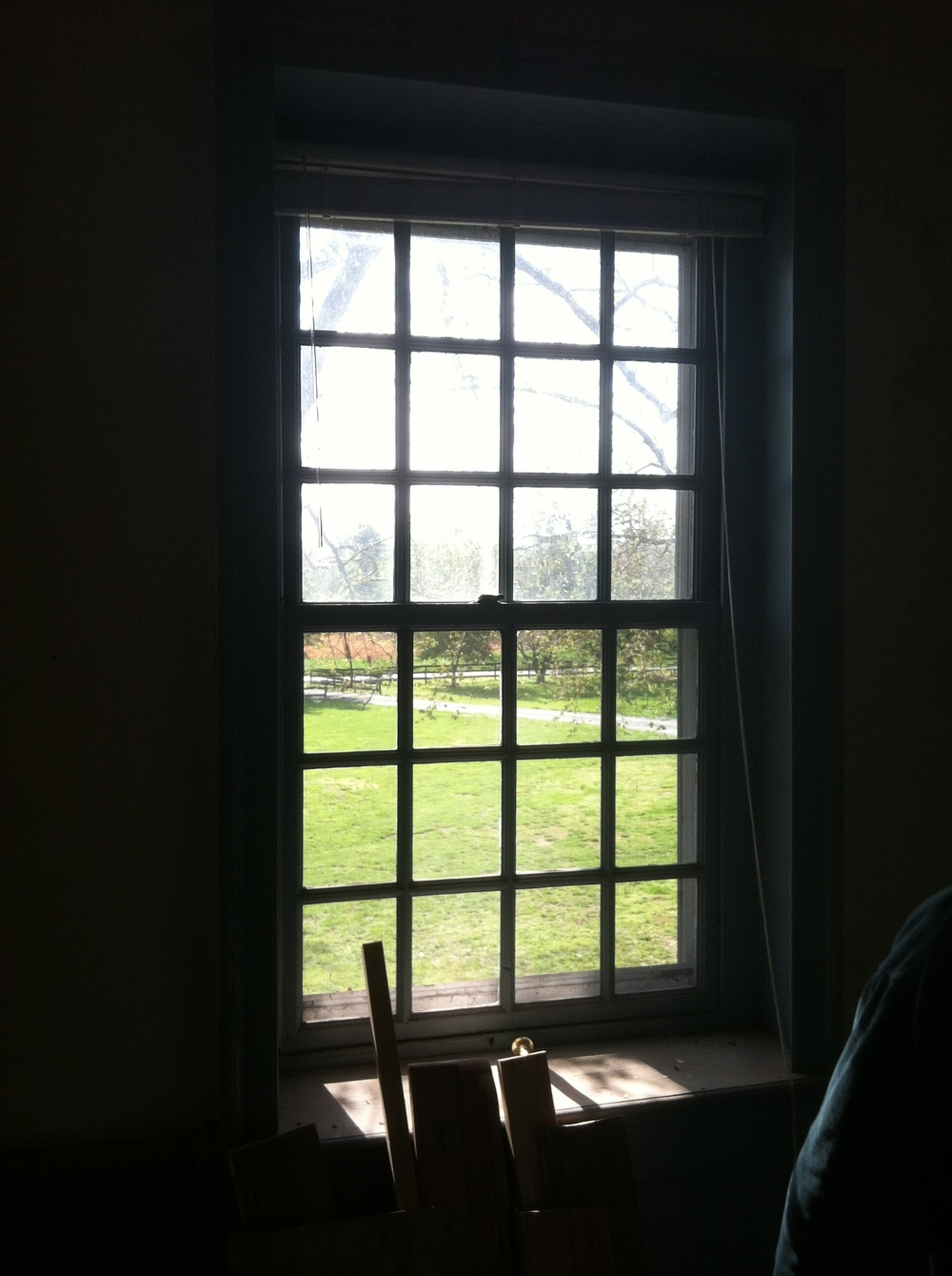 The same window that George Washington looked through while a guest at Worsell Manor.