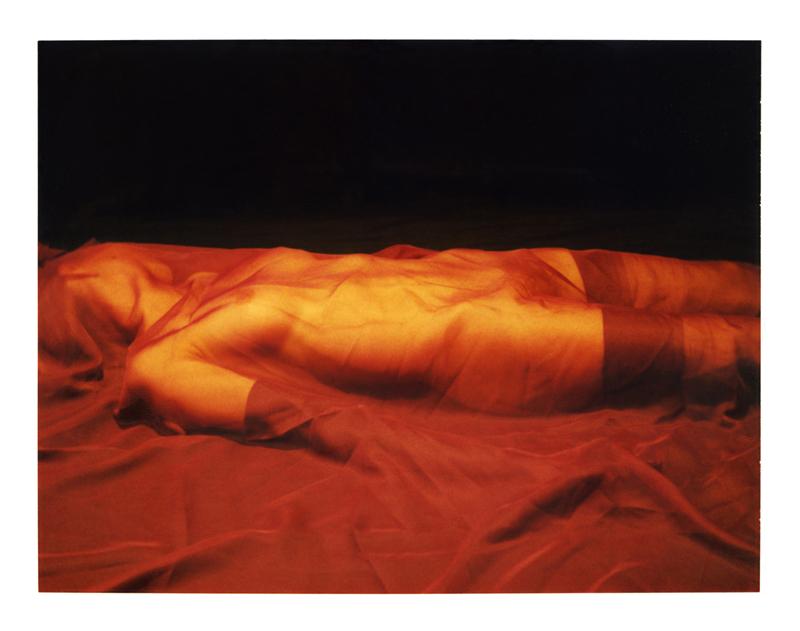Polaroid, femme couchée  2010, polaroid film 690  8.5 x 10.8 cm