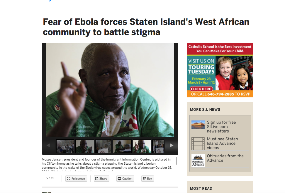 Fear of Ebola forces Islands West African community to battle stigma