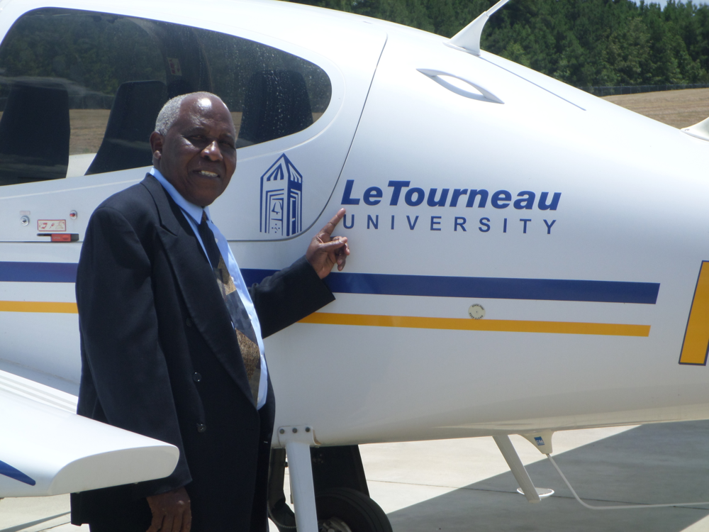 Moses T. T. Jensen visiting Le Tourneau University in Texas.