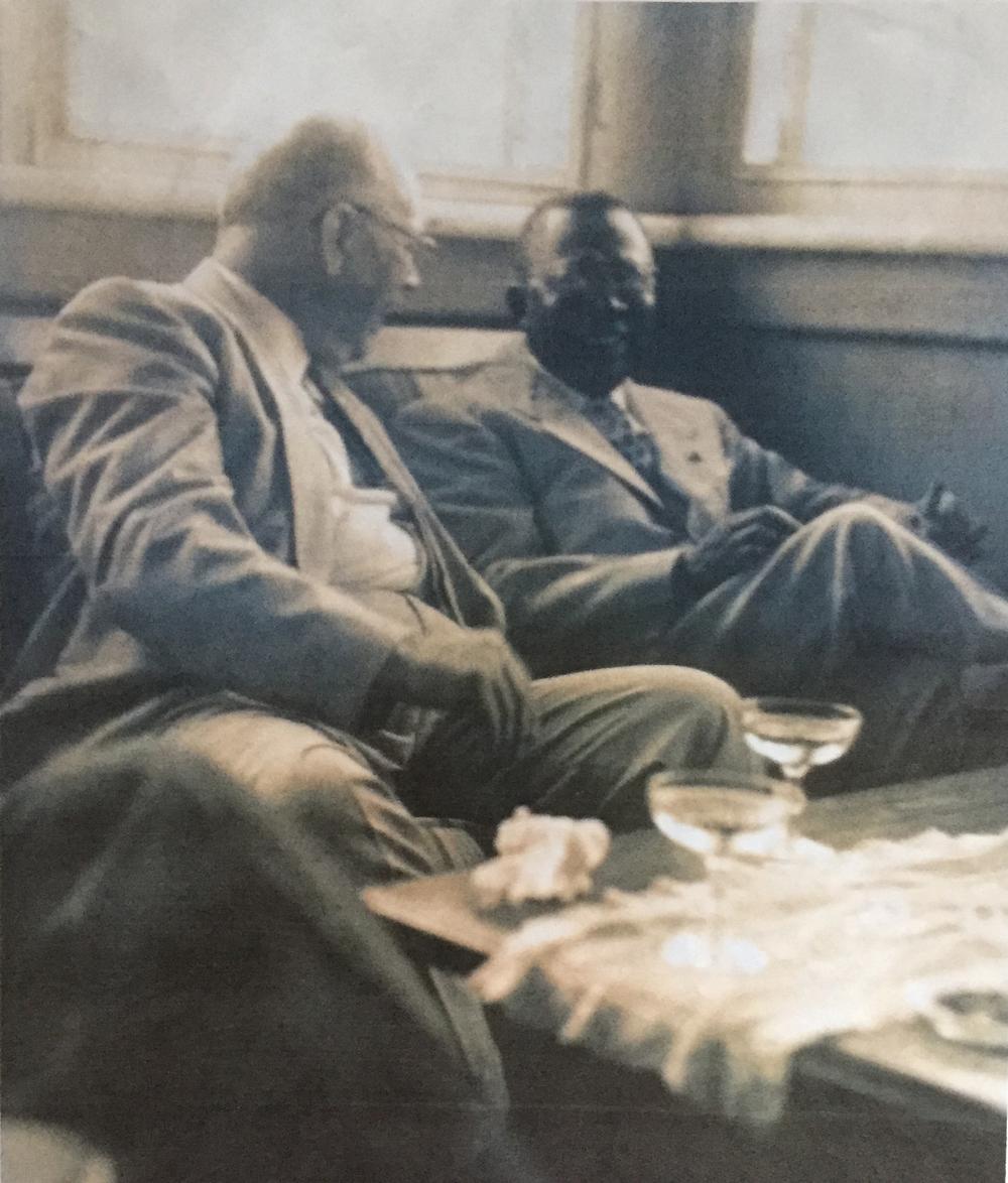 The billionaire R. G. LeTourneau with late President of Liberia Mr. William V.S. Tubmen in 1953.