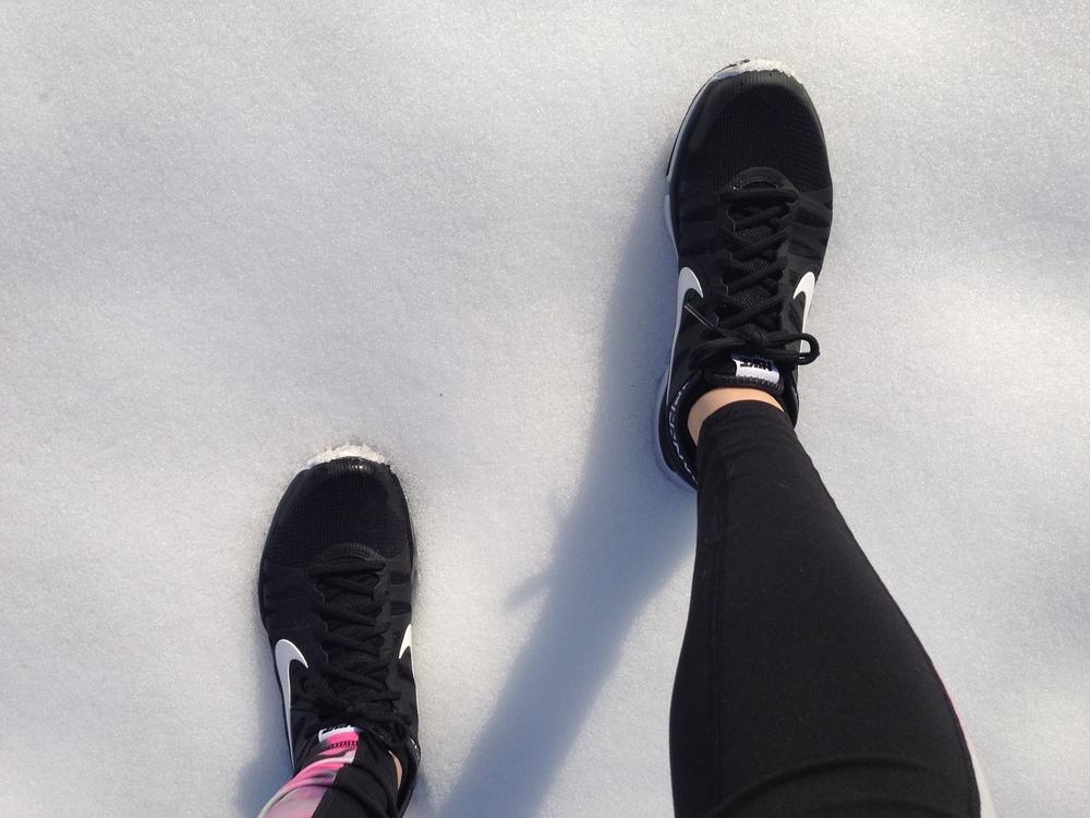 Running on snow, not always a great idea!
