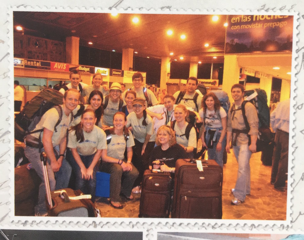 A picture of a picture so the quality is quite poor. But our hearts were rich (and a bit tachycardic) and here we are just landed in El Salvador, 2009.
