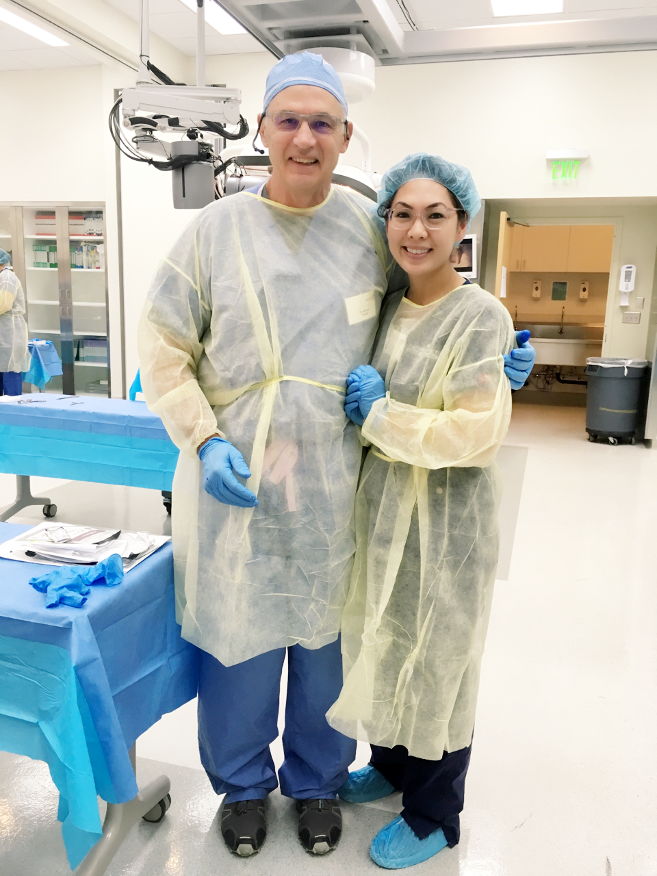 Through my journey I have met some amazing human beings like Dr. Chris Attinger (plastic surgeon from Georgetown). He's taught me some cool ways to heal a wound and his insights on limb reconstruction is just incredible. What an honor!