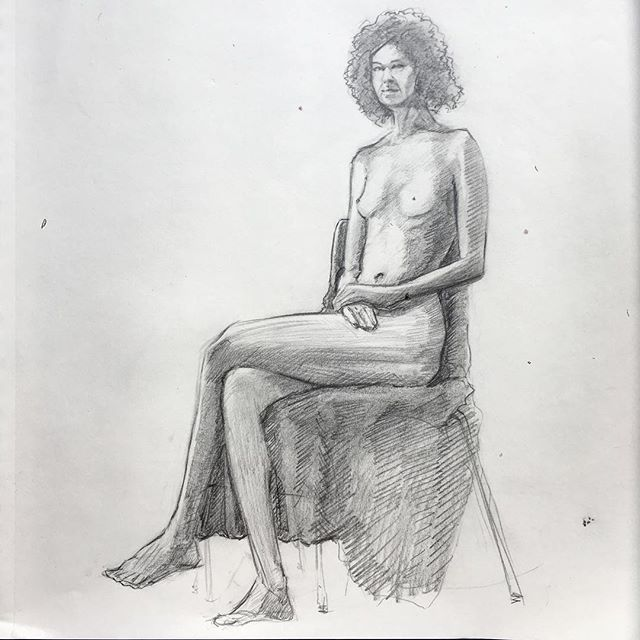 Most recent #lifedrawing session. Long pose 1hour @gbcollege #pencil #art study #sketchbook