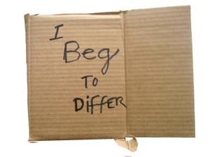 Cardboard Signs Alejandro Diaz