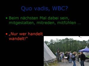 Quo vadis, WBC?
