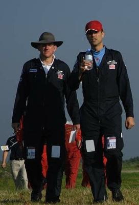 Martin und Simon bei der Heli WM 2005 Rouen/Frankreich