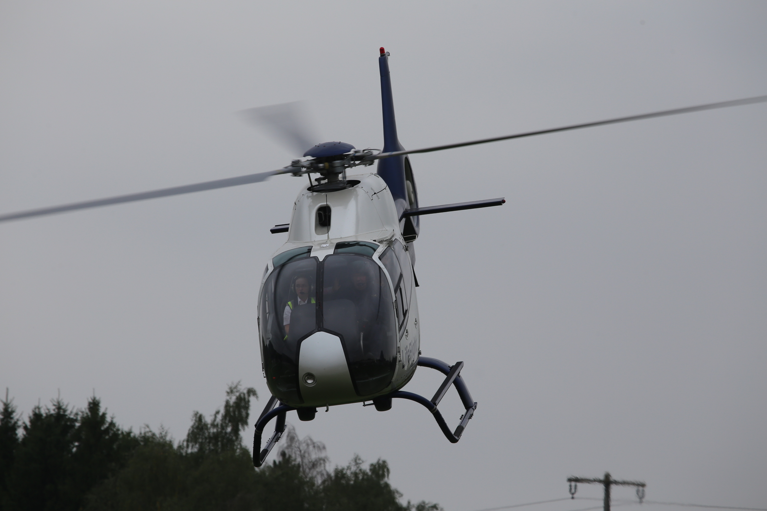 """Helicraft 26, departing Wadersloh heliport .."""