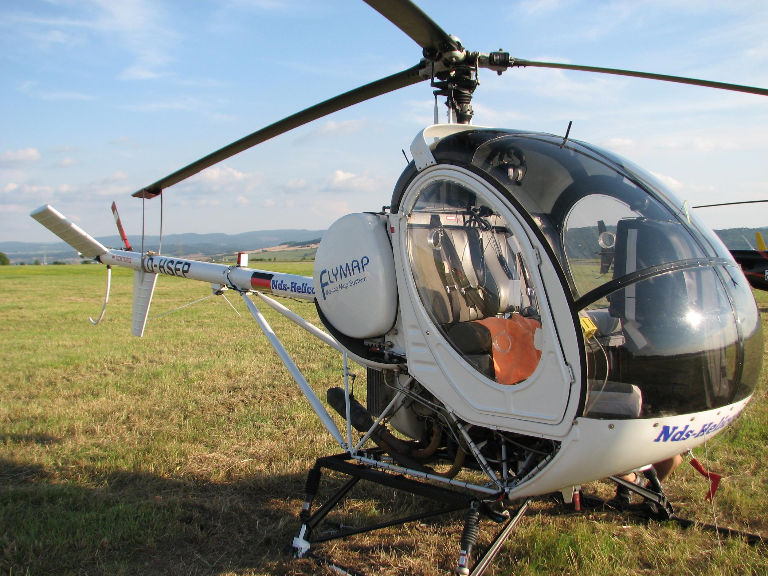 Unser Wettbewerbsflieger, eine Hughes 269C