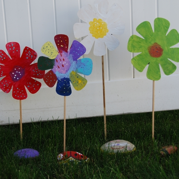 Painted Flower & Rock Garden Craft