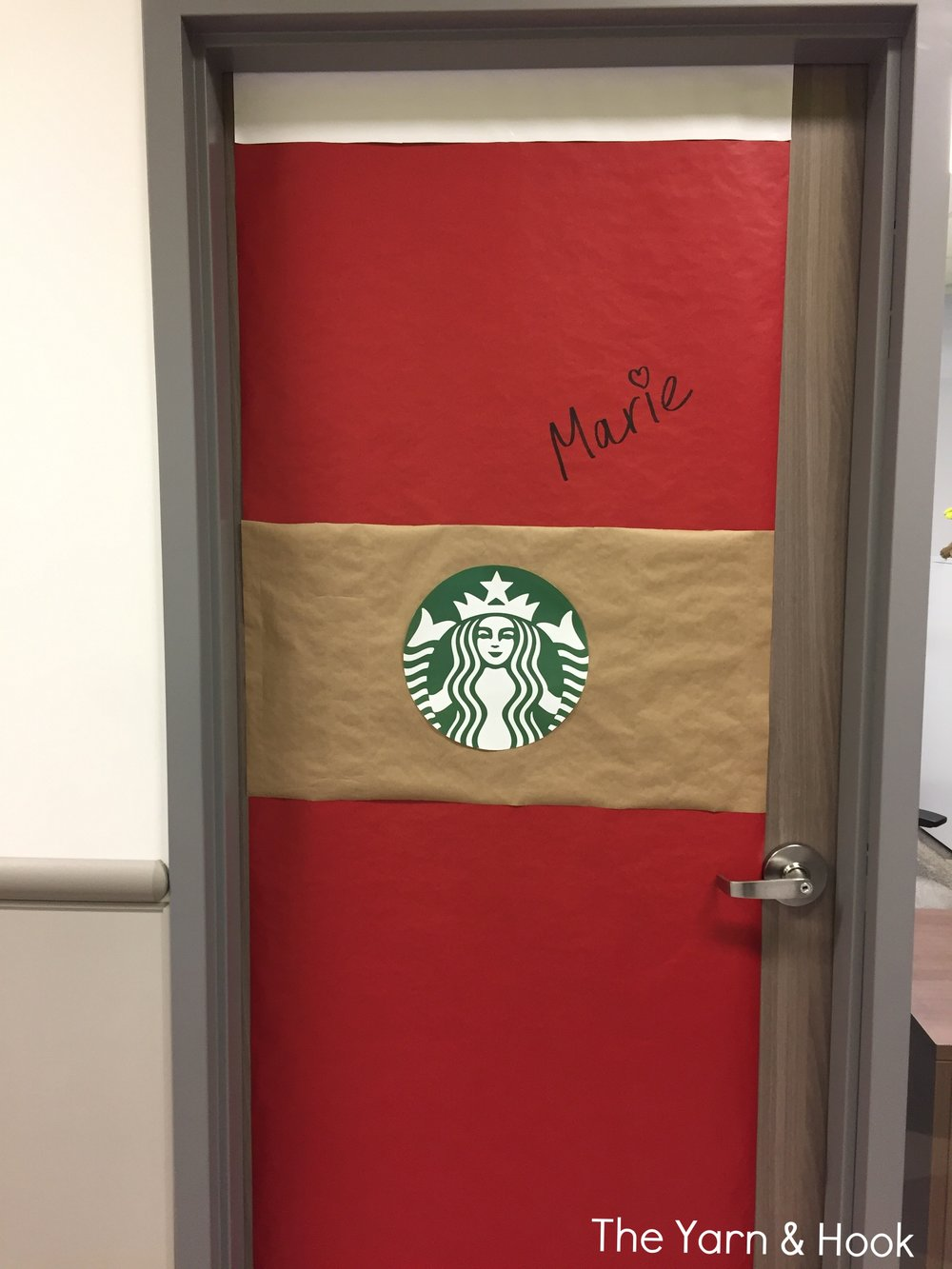 Starbucks Christmas door decoration