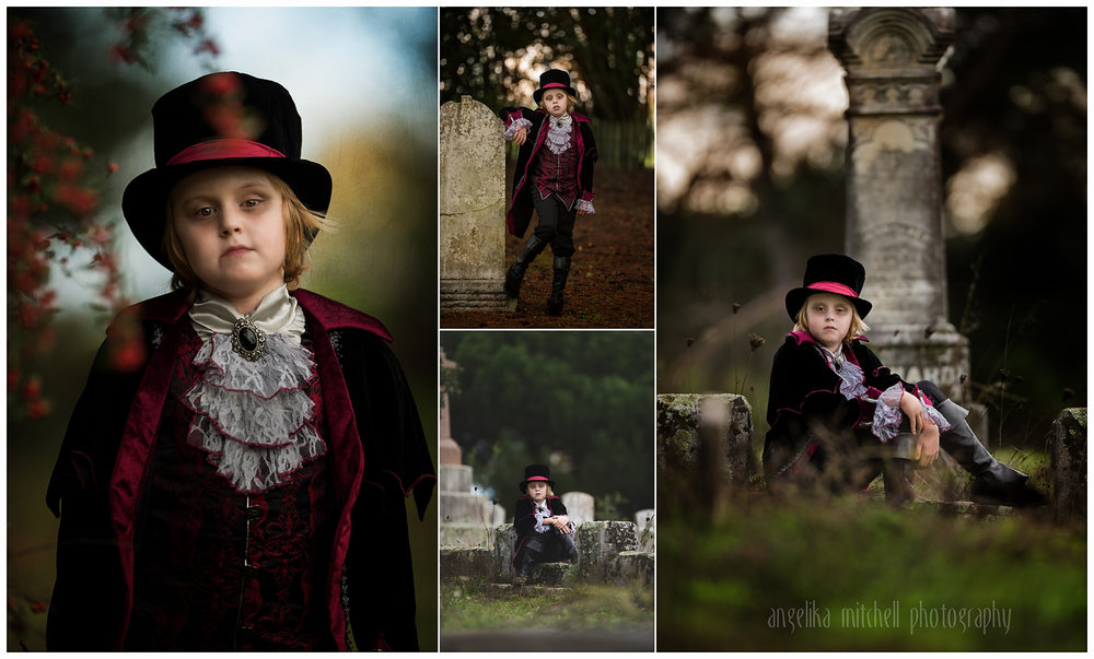 Vampire Storybook Session Angelika Mitchell Santa Rosa Children Photographer