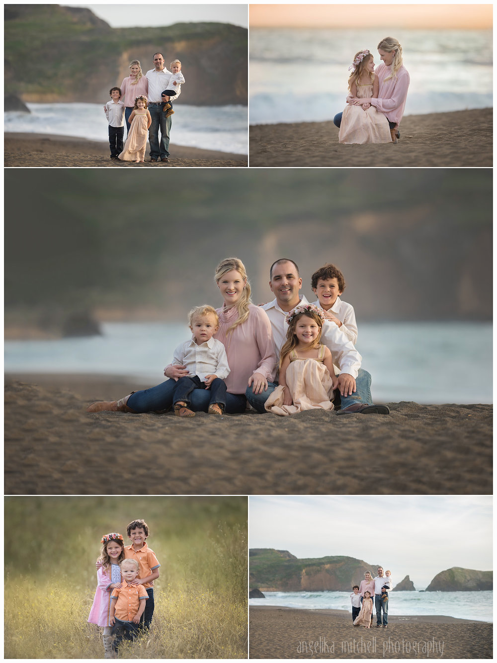 Rodeo Beach Family Photo Session- Angelika Mitchell Photography