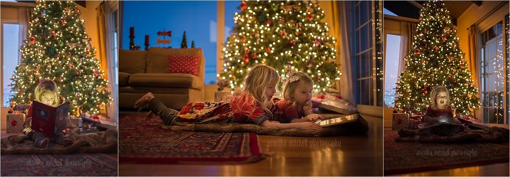 Taking Christmas Tree Photos- Angelika Mitchell Photography