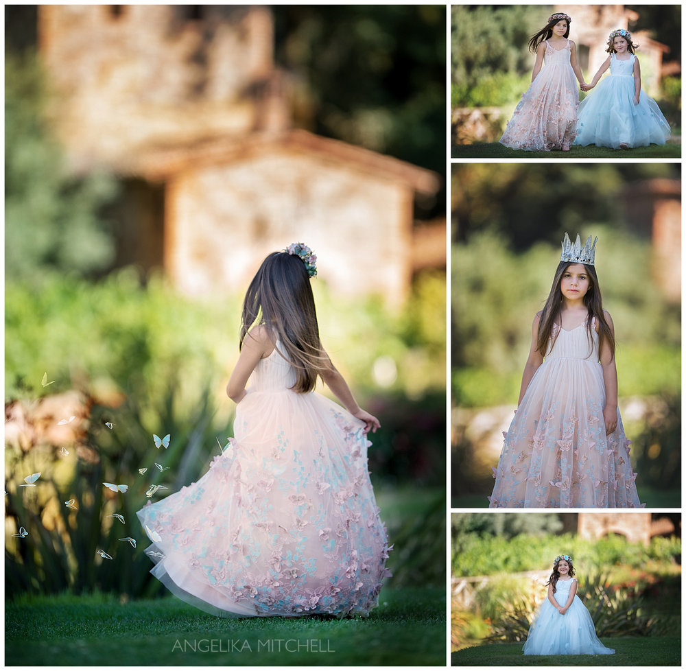 sonoma county vineyard princesses photo shoot