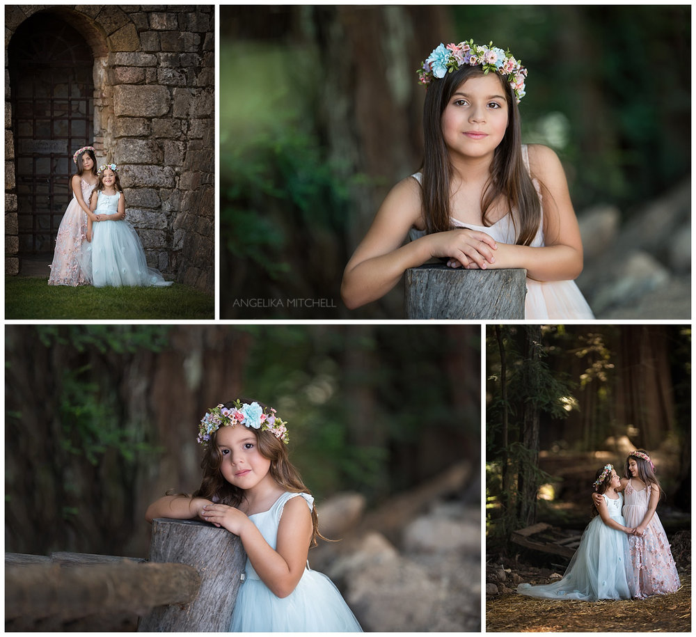 Sonoma County redwoods princess photo shoot