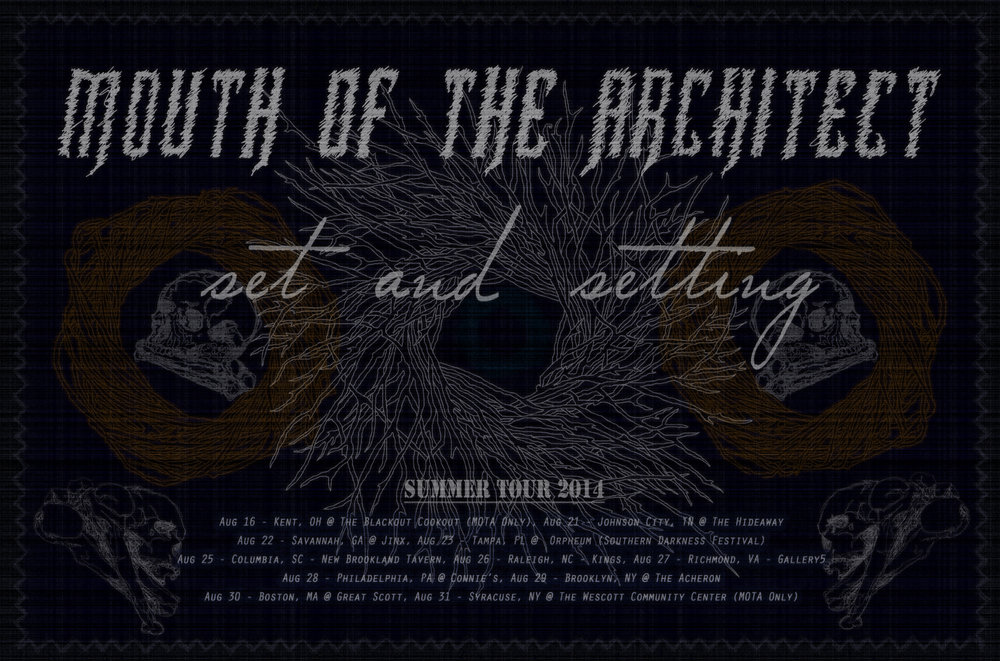 "Mouth of the Architect ""Dawning"" Tour 2014"